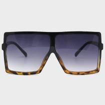 Leopard Print Sexy Street Gradual Change Leopard Split Joint Sunglasses
