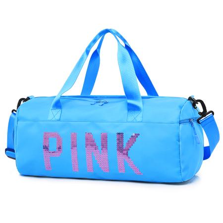 Light Blue Casual Sportswear Hot Drilling Split Joint Zipper Bags