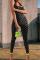 Black Sexy Print Split Joint Halter Skinny Jumpsuits