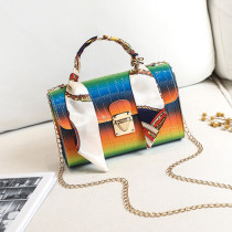 Orange Fashion Casual Gradual Change Chains Messenger Bag