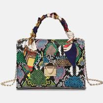 Green Fashion Casual Animal Print Chains Shoulder Messenger Bag