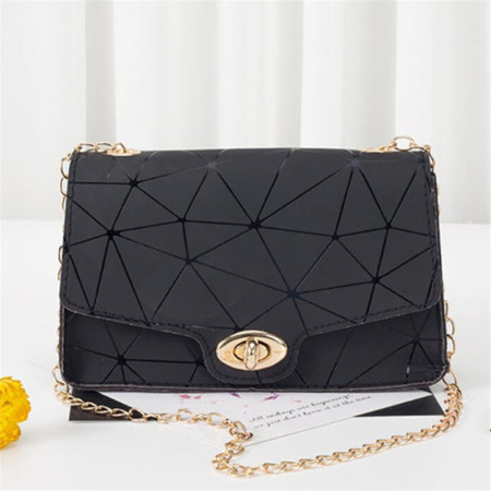 Black Fashion Casual Print Chains Messenger Bags