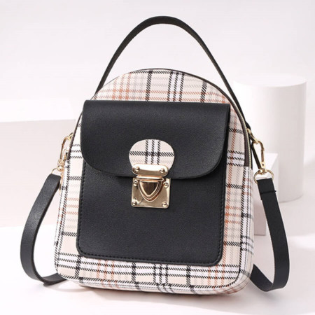 Black Fashion Casual Patchwork Zipper Backpack