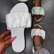 White Casual Street Split Joint Fold Opend Out Door Shoes
