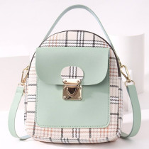 Green Fashion Casual Patchwork Zipper Backpack