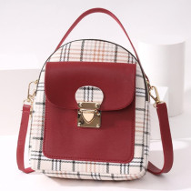Red Fashion Casual Patchwork Zipper Backpack