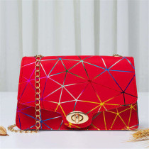 Red Fashion Casual Print Chains Messenger Bags