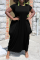 Tangerine Red Casual Solid Split Joint O Neck Straight Dresses