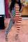 Red Sexy Print Split Joint Spaghetti Strap Skinny Jumpsuits