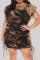 Black Fashion Casual Plus Size Tie Dye Printing O Neck Short Sleeve Dress