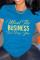 Blue Fashion Casual Letter Print Basic O Neck T-Shirts