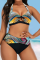 Colour Sexy Print Hollowed Out Split Joint Swimwears