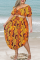 Leopard Print Sexy Print Split Joint Off the Shoulder Straight Plus Size Two Pieces