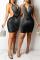 Apricot Sexy Hot Drilling Split Joint Halter Pencil Skirt Dresses
