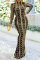 Gold Sexy Patchwork Sequins Mesh Half A Turtleneck Trumpet Mermaid Dresses