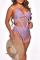 Pink Sexy Solid Hollowed Out Split Joint Swimwears