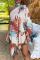 Multicolor Casual Print Split Joint Halter Irregular Dress Dresses