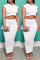 White Sexy Casual Solid Basic Turndown Collar Short Sleeve Two Pieces