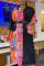 Black Casual Print Split Joint Turndown Collar Shirt Dress Dresses