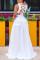 White Sexy Solid Bandage Hollowed Out Split Joint Backless Slit V Neck A Line Dresses