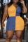Blue Sexy Solid Split Joint Turndown Collar Pencil Skirt Plus Size Dresses