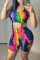 Multicolor Sexy Casual Print Bandage Hollowed Out U Neck Sleeveless Two Pieces