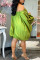 Yellow Fashion Sexy Solid Backless Off the Shoulder Long Sleeve Dresses