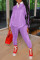 Pink Fashion Casual Patchwork Basic Turndown Collar Long Sleeve Two Pieces