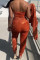Orange Fashion Casual Solid Basic Hooded Collar Long Sleeve Three-piece Set