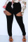 Black Fashion Casual Solid Ripped Hollowed Out High Waist Skinny Jeans