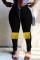 Black Fashion Casual Patchwork Tassel Plus Size Jeans