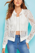 White Sexy Perspective Mesh Gauze Jacket (Only Jacket)