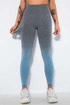 Blue Street Sportswear Gradual Change Solid Split Joint