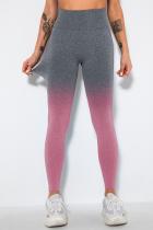 Pink Street Sportswear Gradual Change Solid Split Joint