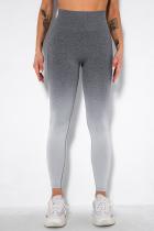 Grey Street Sportswear Gradual Change Solid Split Joint
