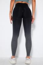 Black Street Sportswear Gradual Change Solid Split Joint