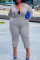 White Casual Solid Split Joint Hooded Collar Plus Size Jumpsuits
