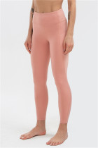 Pink Casual Sportswear Solid High Waist Butt-lifting Yoga Trousers