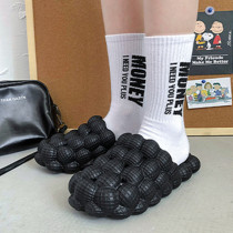 Black Casual Living Hollowed Out Solid Color Slippers