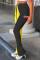 Yellow Black Fashion Casual Print Split Joint Regular High Waist Conventional Patchwork Bottoms