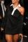 Black Casual Solid Split Joint Turndown Collar Pencil Skirt Dresses