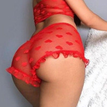 Red Fashion Sexy Solid See-through Lingerie