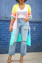 Colour Fashion Casual Print Cardigan Outerwear