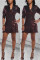 Red Notched Slim fit Patchwork Sequin Geometric Button Patchwork Long Sleeve Coats & Cardigan