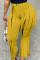 Orange Fashion Casual Print Basic Regular High Waist Trousers