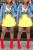FluorescentYellow Fashion Sexy Pleated Short Skirt