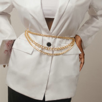 Gold Fashion Solid Hollowed Out Waist Chain