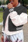 Black Fashion Casual Patchwork Cardigan Outerwear