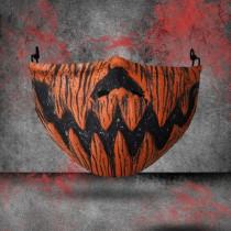 Orange Fashion Casual Print Split Joint Mask