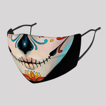 Multicolor Fashion Casual Print Split Joint Mask